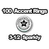 100 x Accent Rings Sparkly 3-1/2 in.