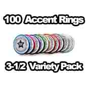 100 x Accent Rings Variety 3-1/2 in.