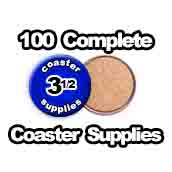 100 x Coaster Supplies 3-1/2 inch