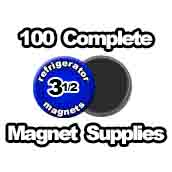 100 x Magnet Supplies 3-1/2 inch