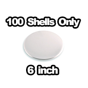 100 x Shells only 6 inch