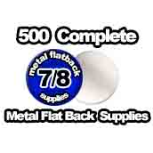 500 x Metal Flat Back Supplies 7/8th inch