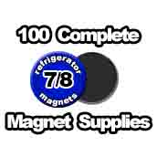 100 x Magnet Supplies 7/8 inch