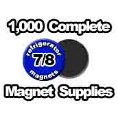 1,000 x Magnet Supplies 7/8 inch