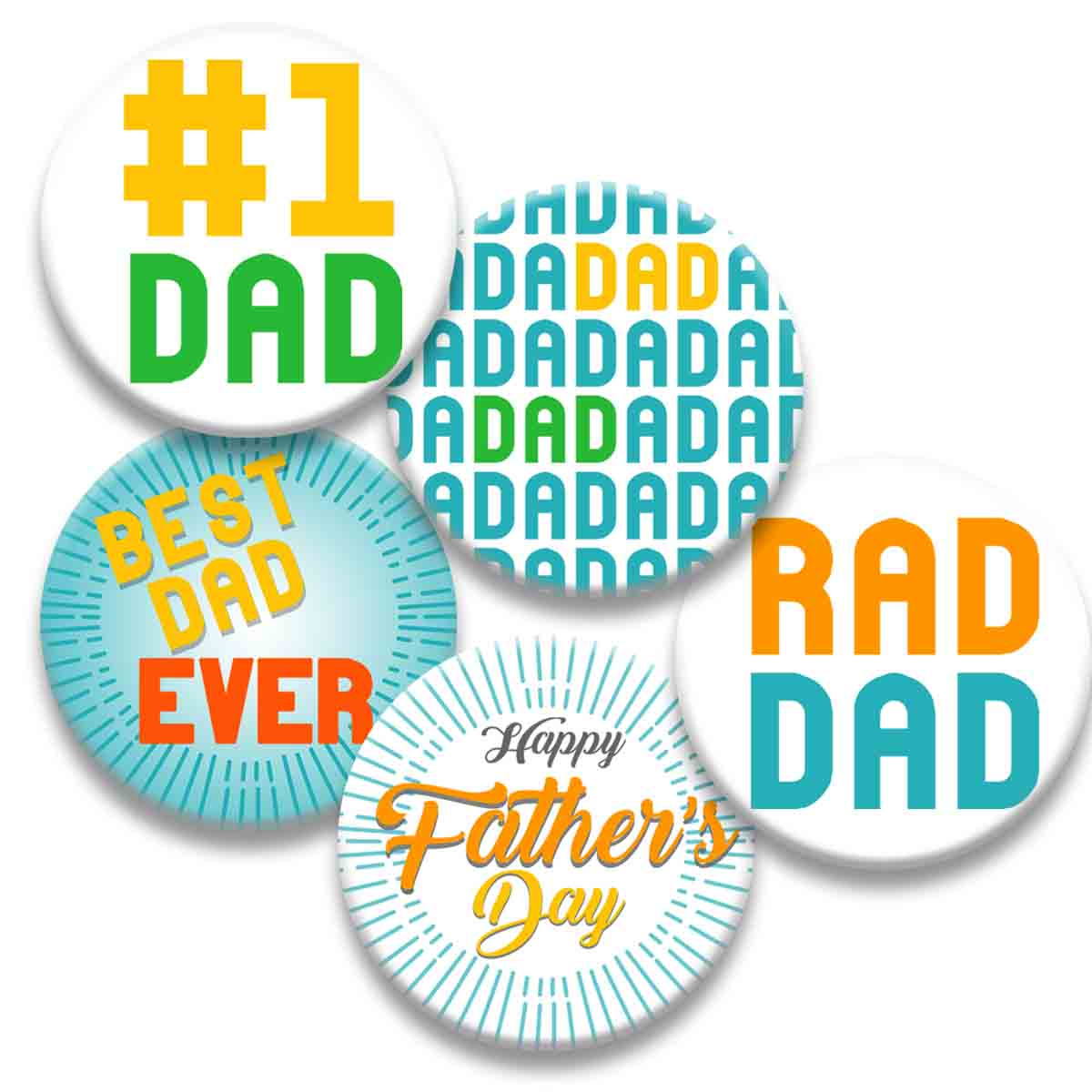 Printable Button Art  - Fathers Day