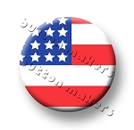 Printable Button Art  - American Flag