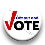 Printable Button Art  - Get Out And Vote