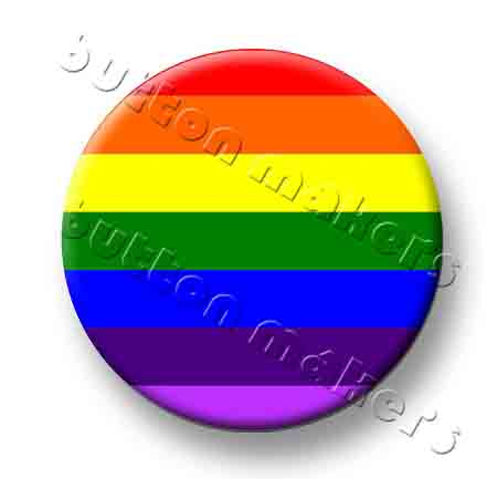 Printable Button Art  - Gay Pride - Rainbow