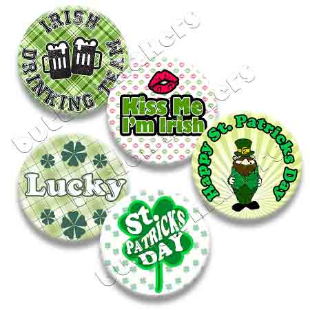 Printable Button Art  - St. Patrick's Day Pack