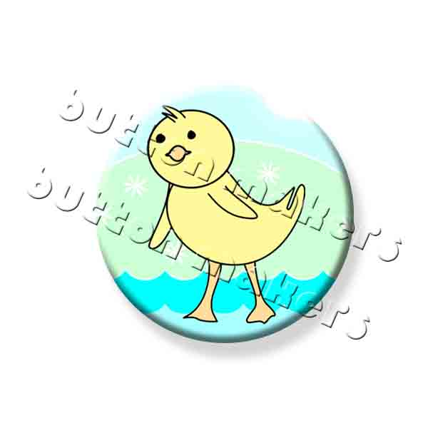 Printable Button Art  - Easter Duckling