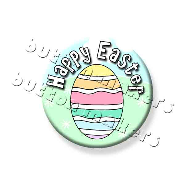 Printable Button Art  - Easter Egg