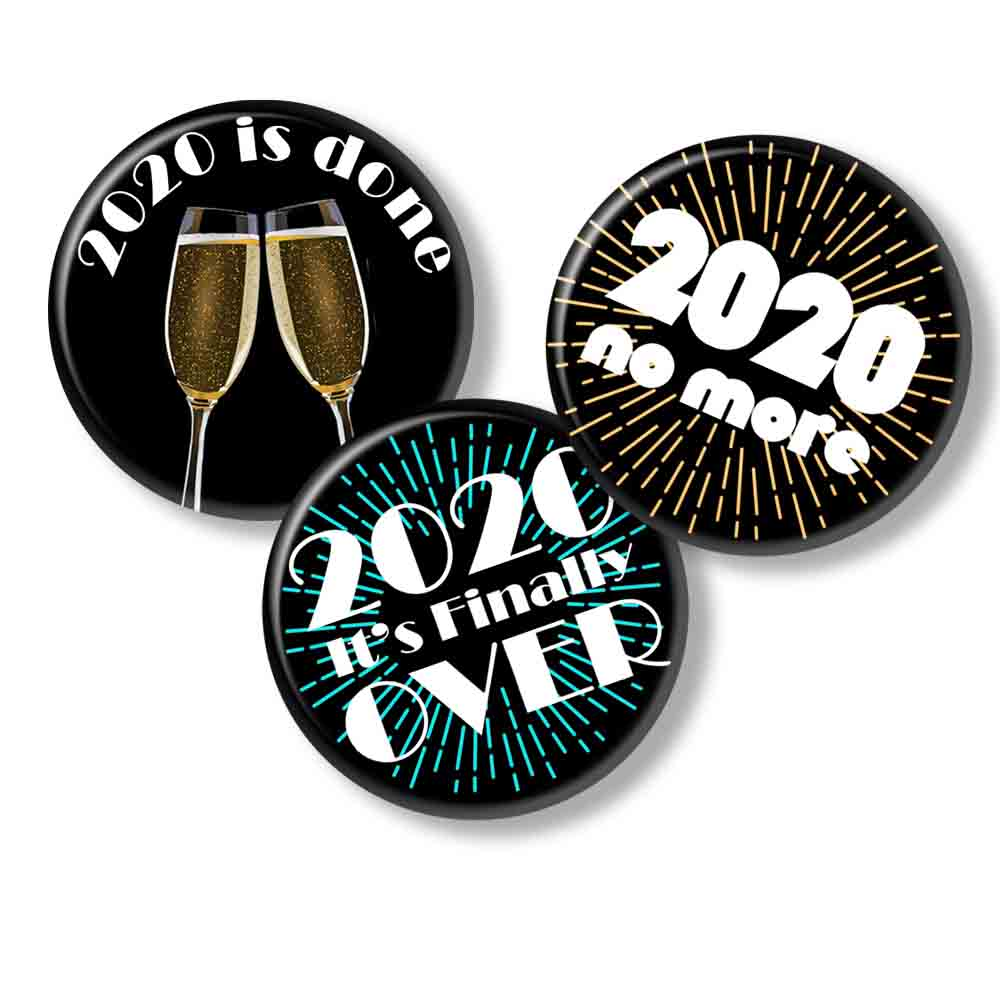 Printable Button Art  - New Years 2021