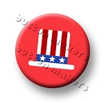 Printable Button Art  - Uncle Sam Hat