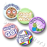 Printable Button Art  - Back to School Design Pack