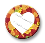 Printable Button Art  - Heart Leaves