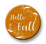 Printable Button Art  - Hello Fall