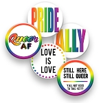Printable Button Art  - Gay Pride