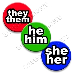 Printable Button Art  - Pronoun Pack