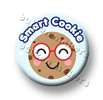 Printable Button Art  - Smart Cookie