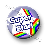 Printable Button Art  - Super Star