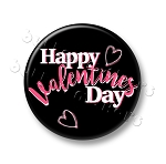 Printable Button Art - Happy Valentines Day