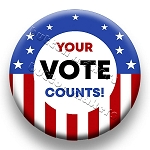 Printable Button Art  - Your Vote Counts