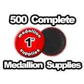 500 x Medallion Supplies 1 inch