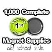 1,000 x Old School Magnet Supplies 1-1/4 inch