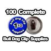100 x Bulldog Clip Supplies 1-1/2 inch
