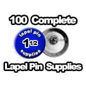 100 x Lapel Pin Supplies 1-1/2 inch