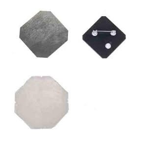 500 x Pinned Back Button Supplies 1-1/2 Diamond