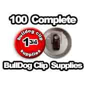 100 x Bulldog Clip Supplies 1-3/4 inch