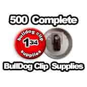 500 x Bulldog Clip Supplies 1-3/4 inch