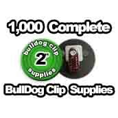 1,000 x Bulldog Clip Supplies 2 inch
