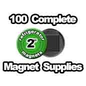 100 x Magnet Supplies 2 inch