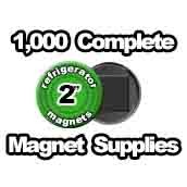 1,000 x Magnet Supplies 2 inch