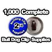 1,000 x Bulldog Clip Supplies 2-1/4 inch