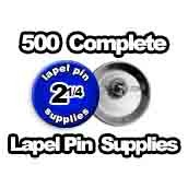 500 x Lapel Pin Supplies 2-1/4 inch