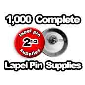 1,000 x Lapel Pin Supplies 2-1/2 inch