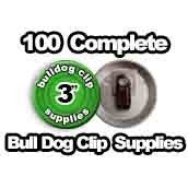 100 x Bulldog Clip Supplies 3 inch