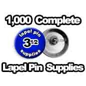1,000 x Lapel Pin Supplies 3-1/2 inch