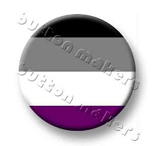 Printable Button Art  - Pride Flag - Asexual