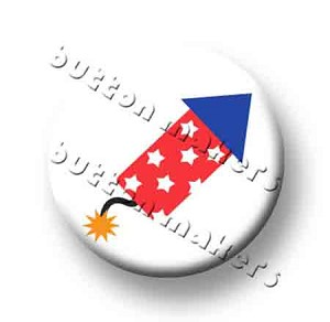 Printable Button Art  - Firework