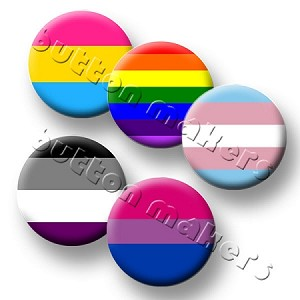 Printable Button Art  - Pride Flag - Design Pack