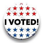 Printable Button Art  - I Voted