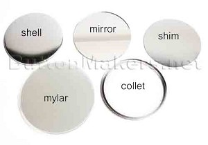 1,000 x Pocket Mirror Supplies 3-1/2 inch