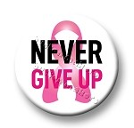 Printable Button Art  - Never Give Up