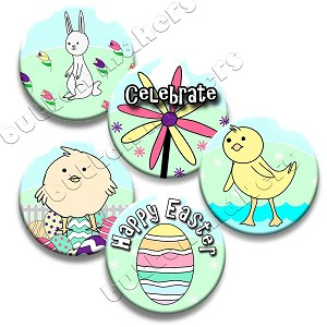 Printable Button Art  - Easter Pack