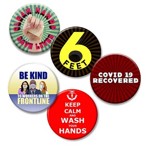 Printable Button Art  - Covid 19 pack