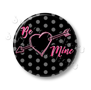 Printable Button Art  - Be Mine